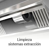 Limpieza de sistemas de extracción