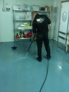 Limpieza con hidrolimpiadora