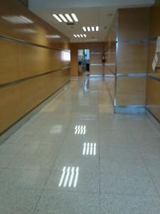 Limpieza suelo marmol despues